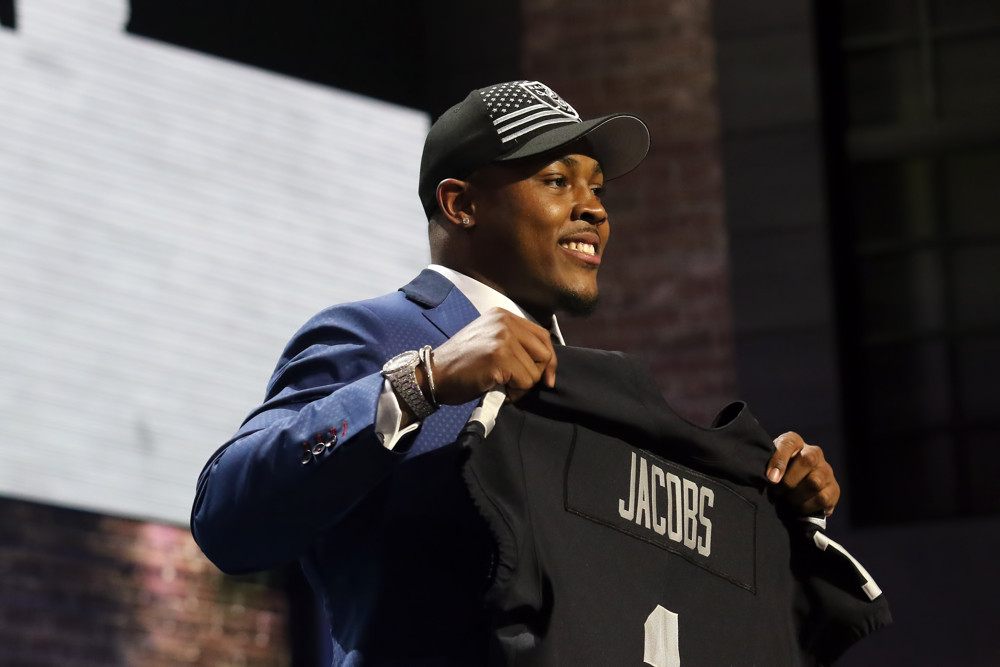 Alabama running back Josh Jacobs is selected by Oakland Raiders