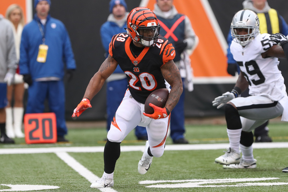 Cincinnati Bengals running back Joe Mixon