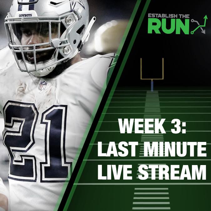 Silva and Levitan Last Minute Live Stream: Week 3, Live Stream at 11:45am ET