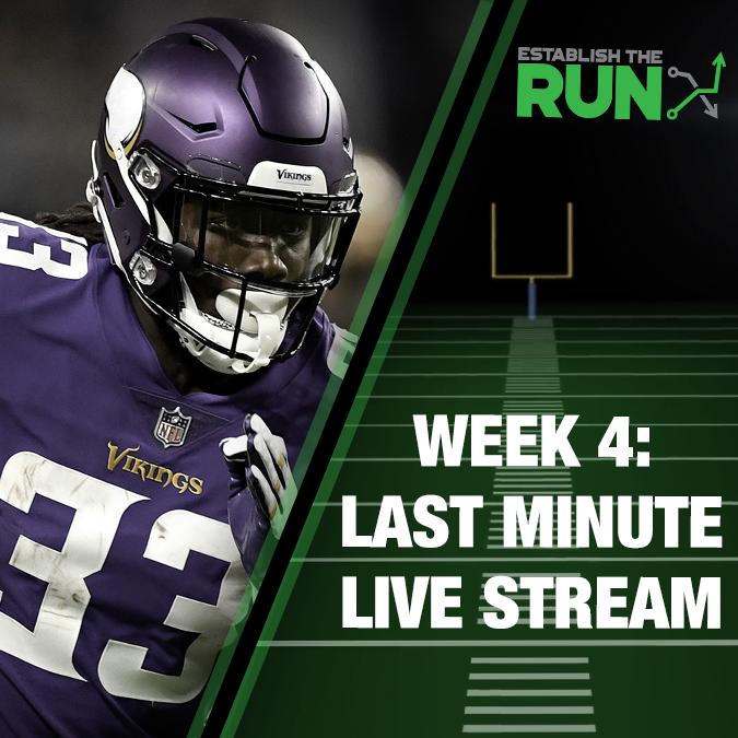 Silva and Levitan Last Minute Live Stream: Week 4, Live Stream at 11:45am ET