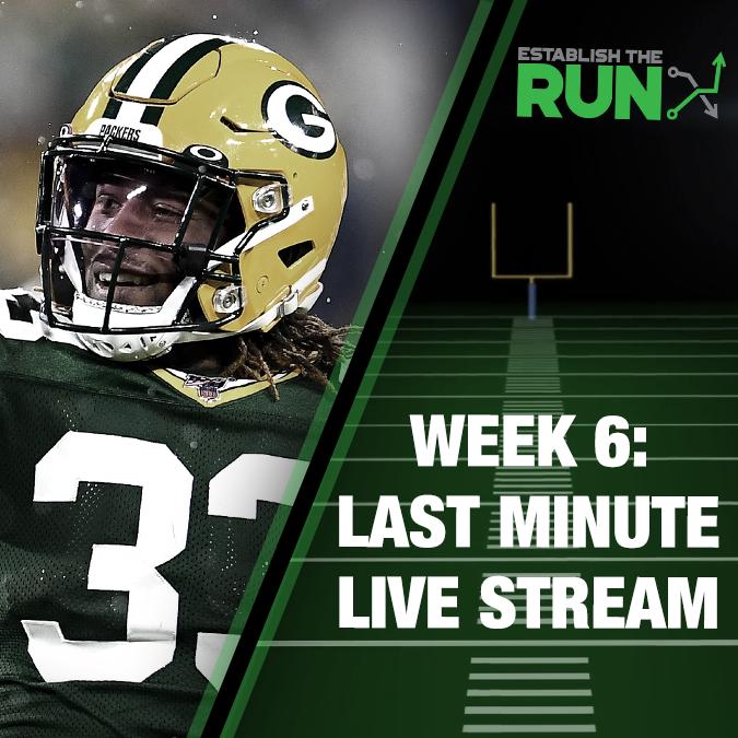 Silva and Levitan Last Minute Live Stream: Week 6, Live Stream at 11:45am ET