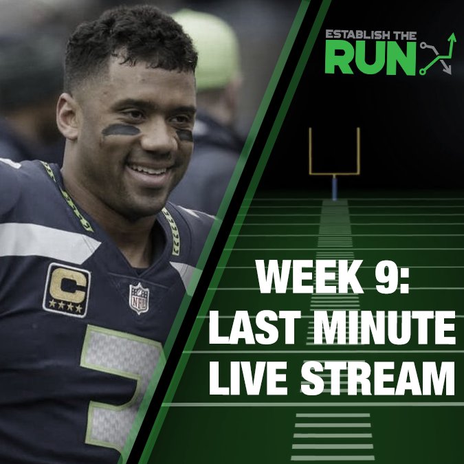 Silva and Levitan Last Minute Live Stream: Week 9, Live Stream at 11:45am ET