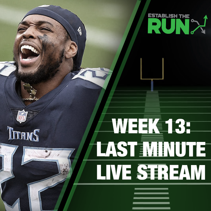 Silva and Levitan Last Minute Live Stream: Week 13, Live Stream at 11:45am ET