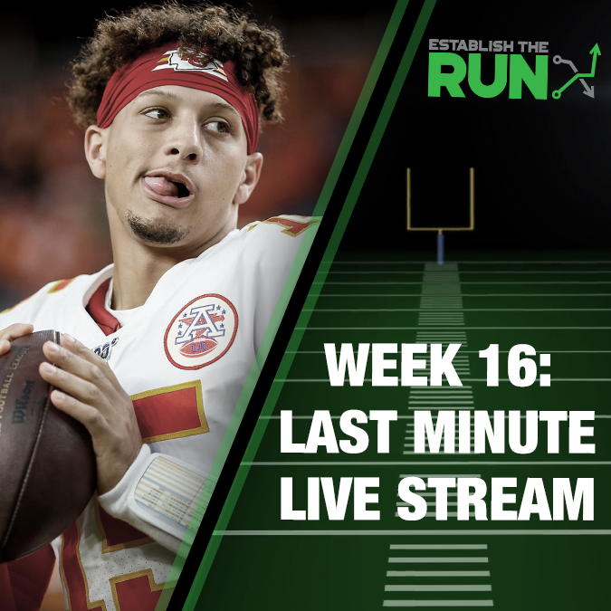 Silva and Levitan Last Minute Live Stream: Week 16, Live Stream at 11:45am ET