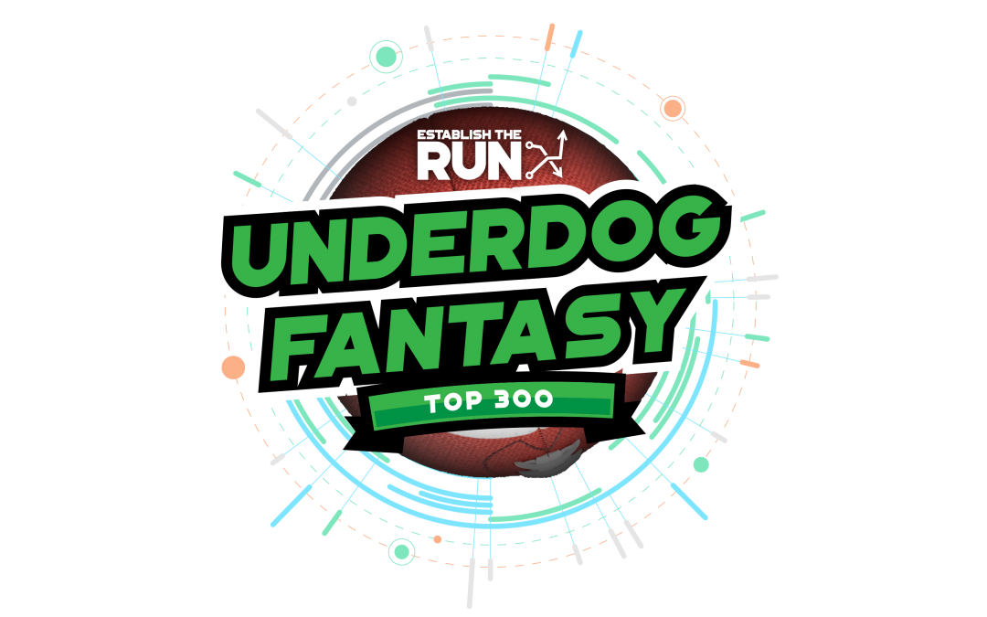 ETR's Top 300 For Underdog Fantasy Best Ball Rankings (UPDATES 9AM DAILY)